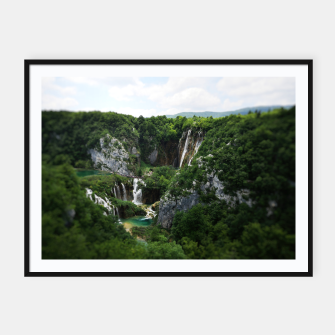 veliki slap waterfall 1 plitvice lakes national park croatia bokeh Framed poster thumbnail image