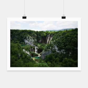 veliki slap waterfall 1 plitvice lakes national park croatia bokeh Poster thumbnail image