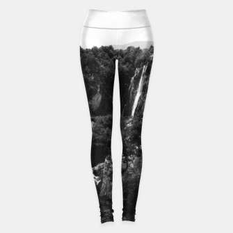 Miniaturka veliki slap waterfall 1 plitvice lakes national park croatia bw vintage Leggings, Live Heroes