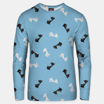 Thumbnail image of Black and White Origami Fish Pattern Unisex sweatshirt, Live Heroes