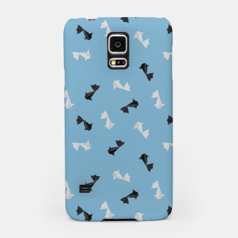 Thumbnail image of Black and White Origami Fish Pattern Handyhülle für Samsung, Live Heroes