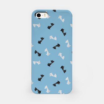 Thumbnail image of Black and White Origami Fish Pattern iPhone-Hülle, Live Heroes