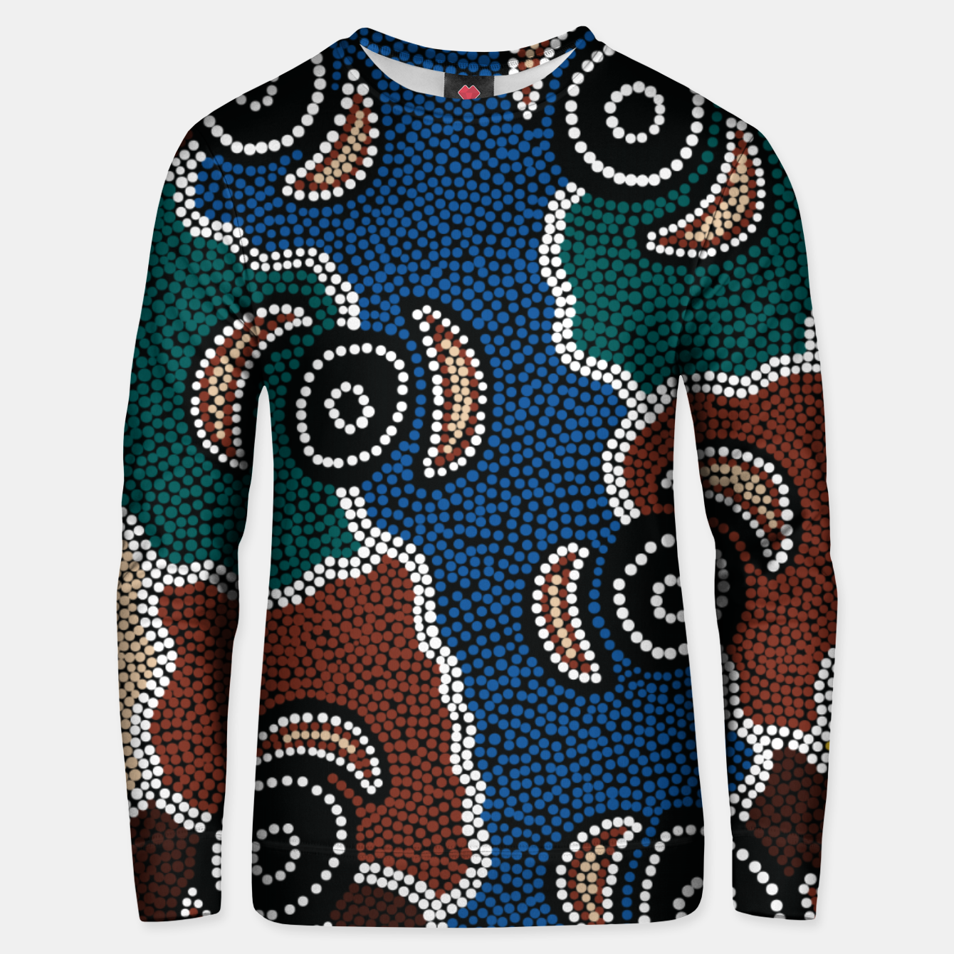 Image of Riverside Dreaming - Authentic Aboriginal Art Unisex sweater - Live Heroes