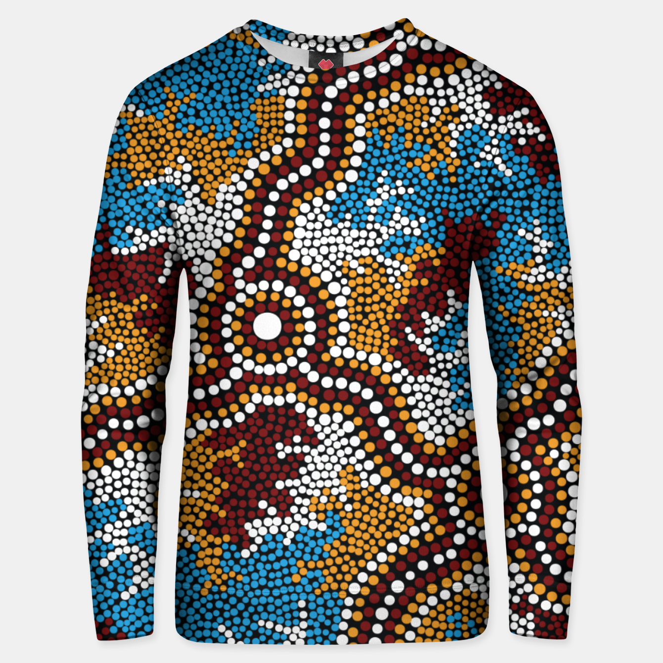 Image of Wetland Dreaming - Authentic Aboriginal Art Unisex sweater - Live Heroes