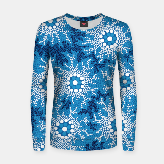 Wetland Dreaming - Authentic Aboriginal Art Women sweater thumbnail image