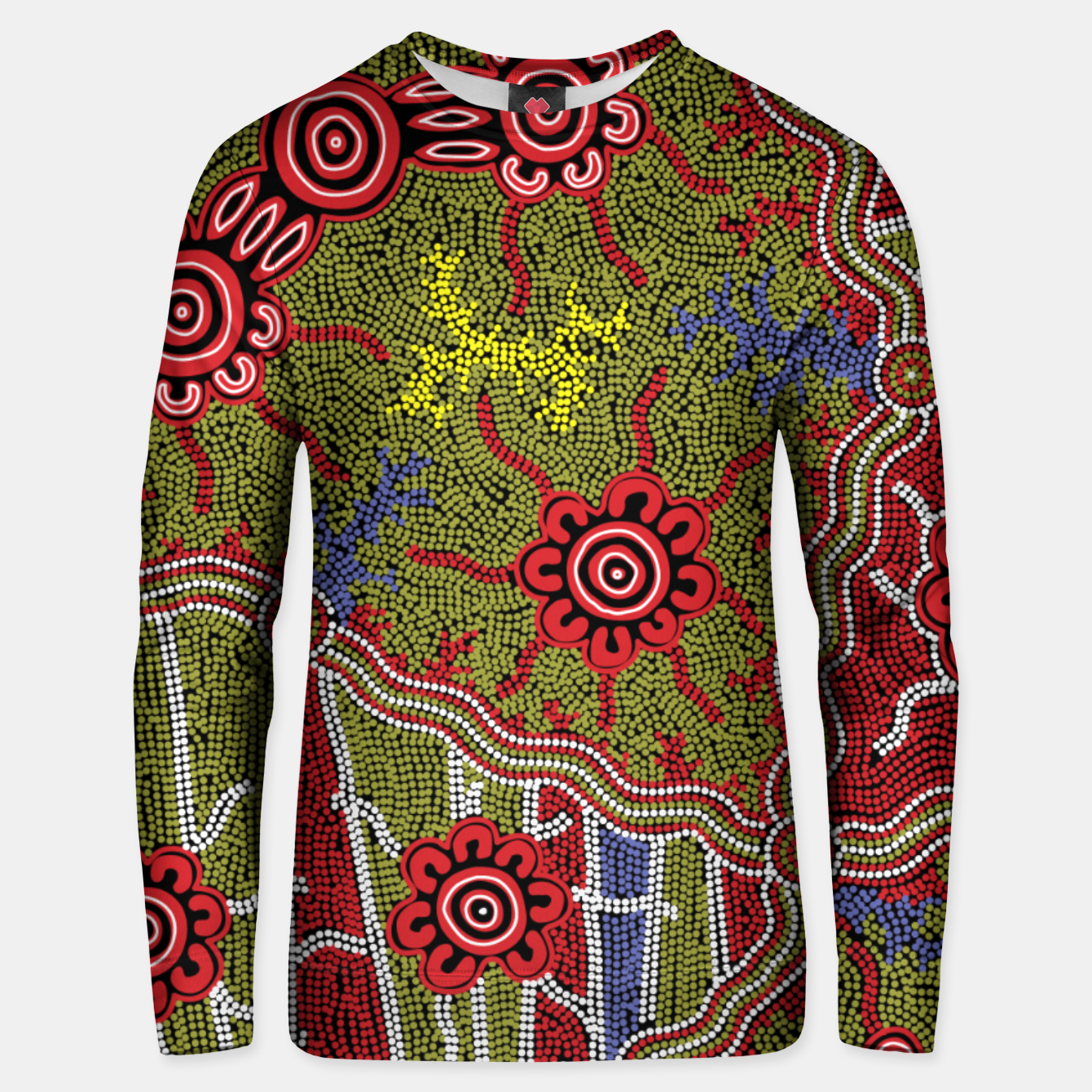 Image of Connections - Authentic Aboriginal Art Unisex sweater - Live Heroes