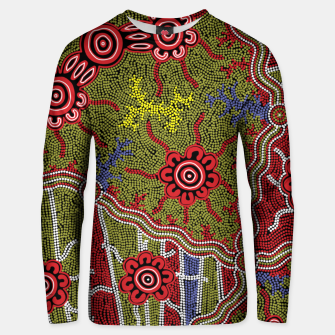 Thumbnail image of Connections - Authentic Aboriginal Art Unisex sweater, Live Heroes
