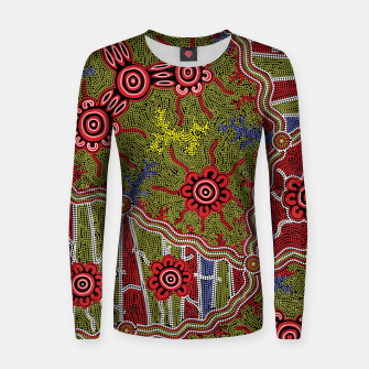 Thumbnail image of Connections - Authentic Aboriginal Art Women sweater, Live Heroes