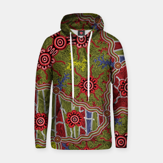 Thumbnail image of Connections - Authentic Aboriginal Art Hoodie, Live Heroes