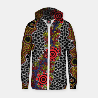 Gathering - Authentic Aboriginal Art Zip up hoodie thumbnail image