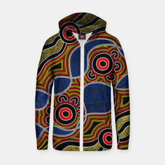 Dots - Authentic Aboriginal Art Zip up hoodie thumbnail image