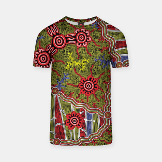Thumbnail image of Connections - Authentic Aboriginal Art T-shirt, Live Heroes