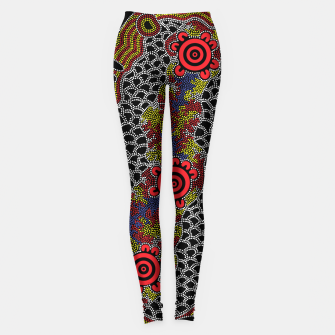 Gathering - Authentic Aboriginal Art Leggings thumbnail image