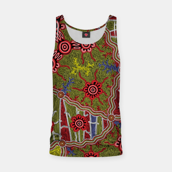 Thumbnail image of Connections - Authentic Aboriginal Art Tank Top, Live Heroes