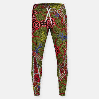 Thumbnail image of Connections - Authentic Aboriginal Art Sweatpants, Live Heroes
