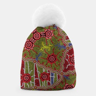 Thumbnail image of Connections - Authentic Aboriginal Art Beanie, Live Heroes