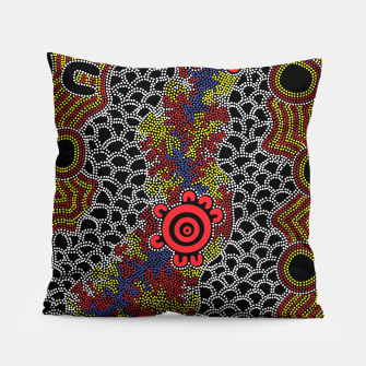 Gathering - Authentic Aboriginal Art Pillow thumbnail image