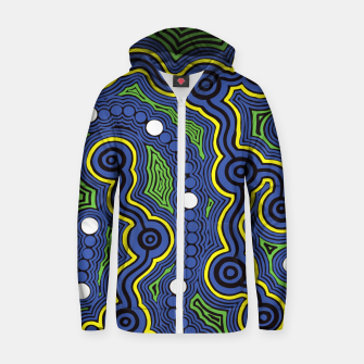 Meeting Places - Authentic Aboriginal Art Zip up hoodie thumbnail image