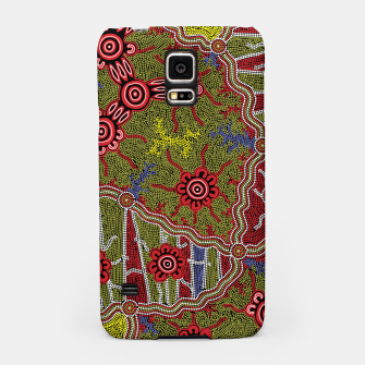 Thumbnail image of Connections - Authentic Aboriginal Art Samsung Case, Live Heroes