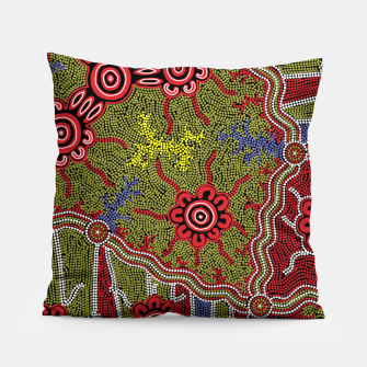 Thumbnail image of Connections - Authentic Aboriginal Art Pillow, Live Heroes