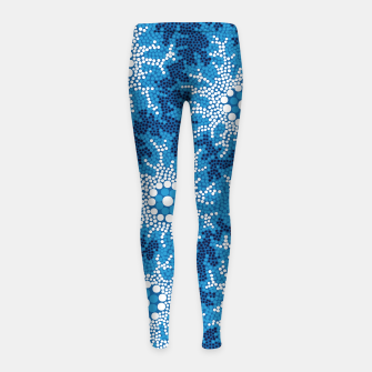 Wetland Dreaming - Authentic Aboriginal Art Girl's leggings thumbnail image