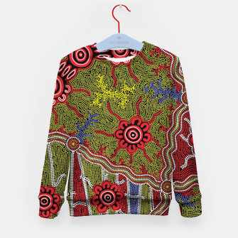 Thumbnail image of Connections - Authentic Aboriginal Art Kid's sweater, Live Heroes