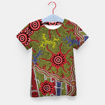 Thumbnail image of Connections - Authentic Aboriginal Art Kid's t-shirt, Live Heroes