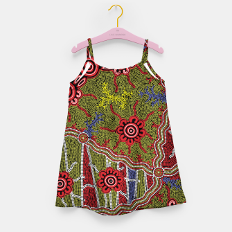 Thumbnail image of Connections - Authentic Aboriginal Art Girl's dress, Live Heroes