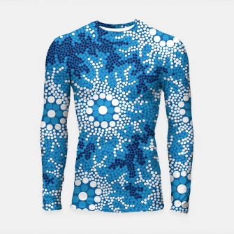 Wetland Dreaming - Authentic Aboriginal Art Longsleeve rashguard  thumbnail image