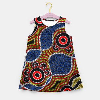 Dots - Authentic Aboriginal Art Girl's summer dress thumbnail image