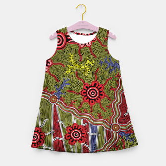 Thumbnail image of Connections - Authentic Aboriginal Art Girl's summer dress, Live Heroes
