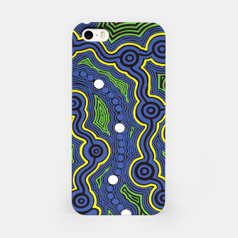 Meeting Places - Authentic Aboriginal Art iPhone Case thumbnail image