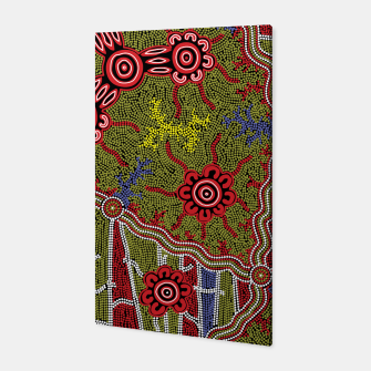Thumbnail image of Connections - Authentic Aboriginal Art Canvas, Live Heroes