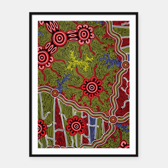 Thumbnail image of Connections - Authentic Aboriginal Art Framed poster, Live Heroes