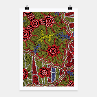 Thumbnail image of Connections - Authentic Aboriginal Art Poster, Live Heroes