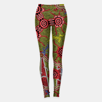 Thumbnail image of Connections - Authentic Aboriginal Art Leggings, Live Heroes