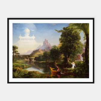Miniaturka The Voyage Of Life - Youth by Thomas Cole Framed poster, Live Heroes