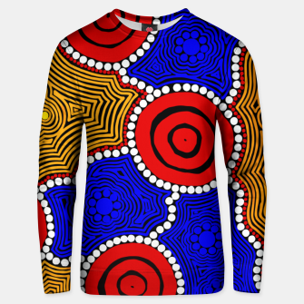 Miniaturka Circles and Dots - Authentic Aboriginal Art Unisex sweater, Live Heroes