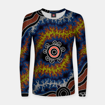 The Heart of Fire - Authentic Aboriginal Art Women sweater thumbnail image