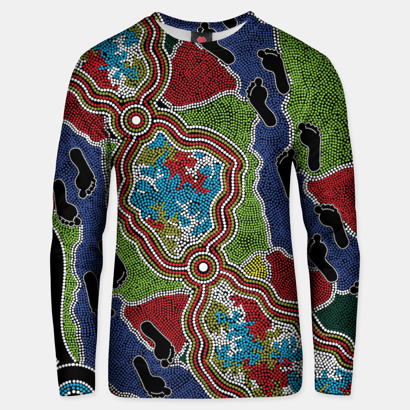 Image of Walking the Land - Authentic Aboriginal Art Unisex sweater - Live Heroes