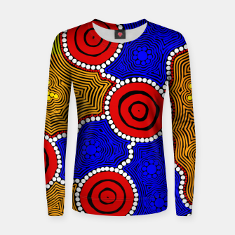 Circles and Dots - Authentic Aboriginal Art Women sweater thumbnail image