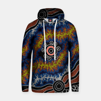 The Heart of Fire - Authentic Aboriginal Art Hoodie thumbnail image