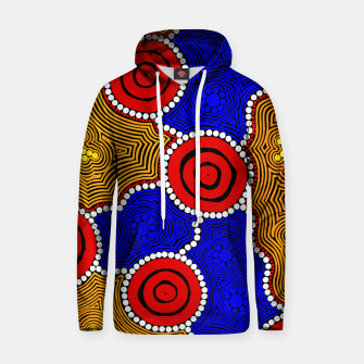 Circles and Dots - Authentic Aboriginal Art Hoodie thumbnail image