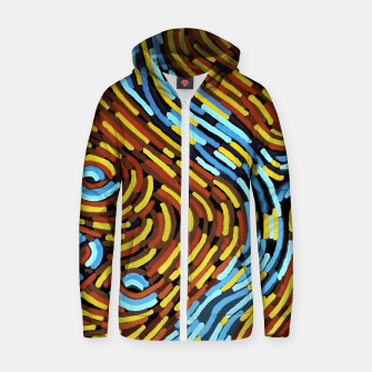 The River - Authentic Aboriginal Art Zip up hoodie thumbnail image