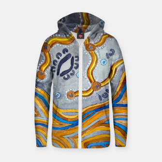 Lines - Authentic Aboriginal Art Zip up hoodie thumbnail image