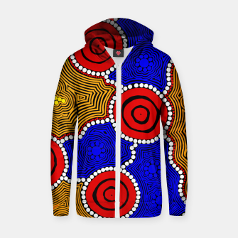 Circles and Dots - Authentic Aboriginal Art Zip up hoodie thumbnail image