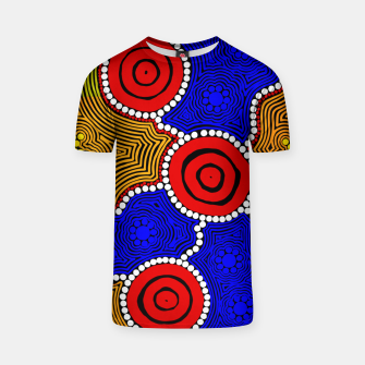 Circles and Dots - Authentic Aboriginal Art T-shirt thumbnail image