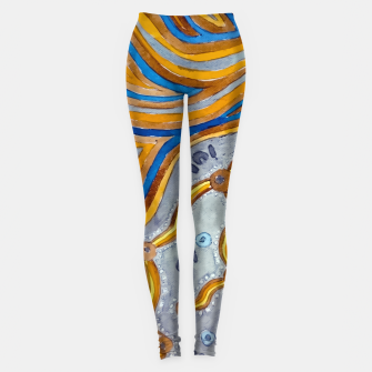 Lines - Authentic Aboriginal Art Leggings thumbnail image