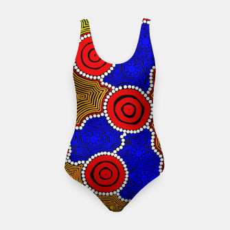 Circles and Dots - Authentic Aboriginal Art Swimsuit thumbnail image