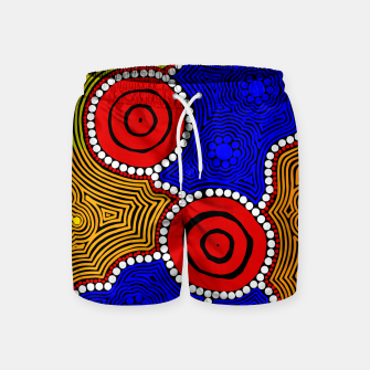 Circles and Dots - Authentic Aboriginal Art Swim Shorts thumbnail image